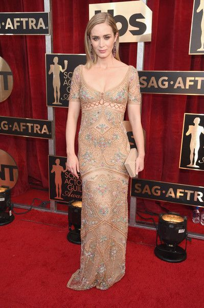 Emily Blunt Photos Photos - Actor Emily Blunt attends The 23rd Annual Screen Actors Guild Awards at The Shrine Auditorium on January 29, 2017 in Los Angeles, California. 26592_009 - The 23rd Annual Screen Actors Guild Awards - Red Carpet