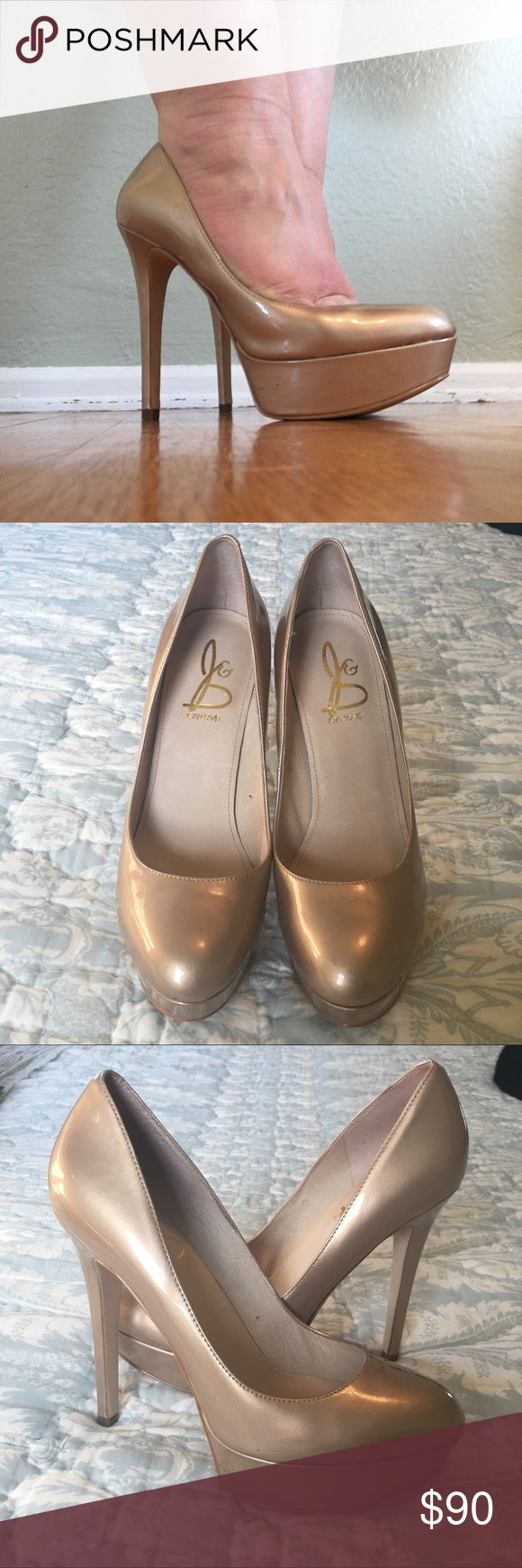 ❤️JOAN & DAVID❤️ PATENT PUMPS USED, but only worn once!! Scuffing on sole, but heel tips are in perfect condition. Perfect heel for a night out! Joan & David Shoes Heels