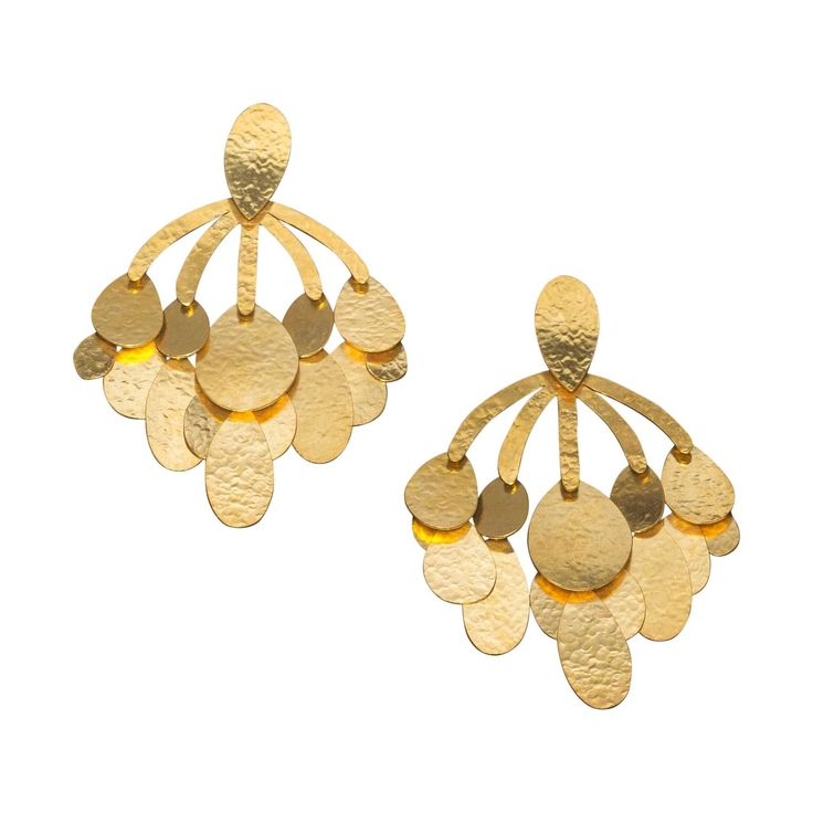 Herve Van Der Straeten Oversized Clip Earrings | From a unique collection of vintage chandelier earrings at https://www.1stdibs.com/jewelry/earrings/chandelier-earrings/