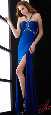 Great Gatsby 1920s prom dress:  Jasz Couture 2014 Prom Dresses - Royal Jersey & Beaded Keyhole Prom Dress $338.00  #greatgatsby #prom