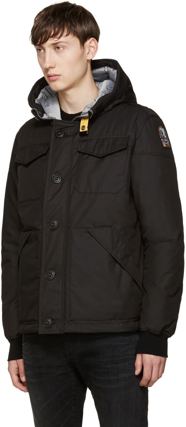 Parajumpers - Black Down Parker Jacket AW 16-17