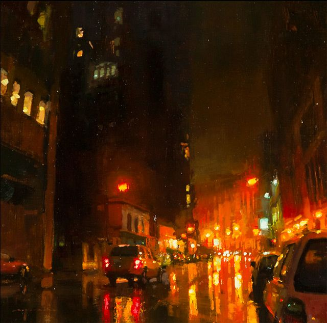 from Broodingcity scapes, oil painting