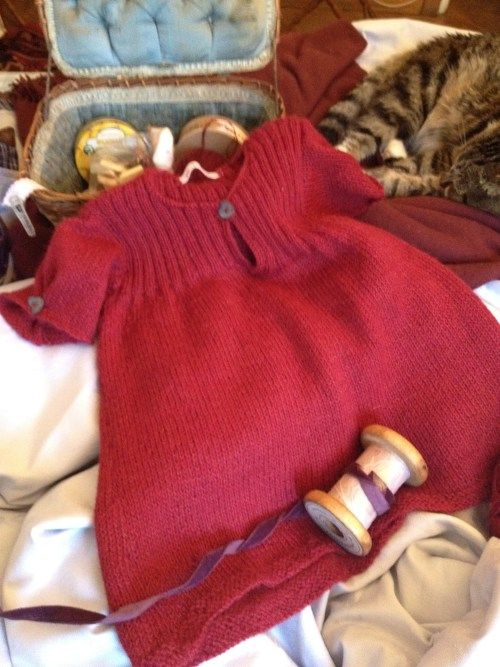 baby dress.... idea for sweater upcycle