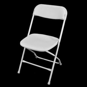 White Fold Up Chair Hire