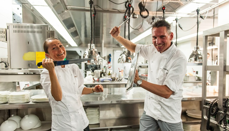 il Tavolo - Zurich's first food festival, cooking duel in The Restaurant