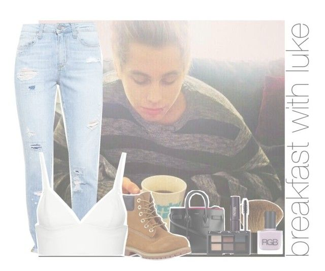 """breakfast with luke"" by rosa-brooks ❤ liked on Polyvore featuring Paige Denim, Yves Saint Laurent, Timberland, T By Alexander Wang, H&M, INIKA, NARS Cosmetics and RGB Cosmetics"