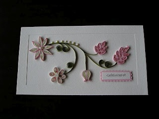 another card/quilling combination...