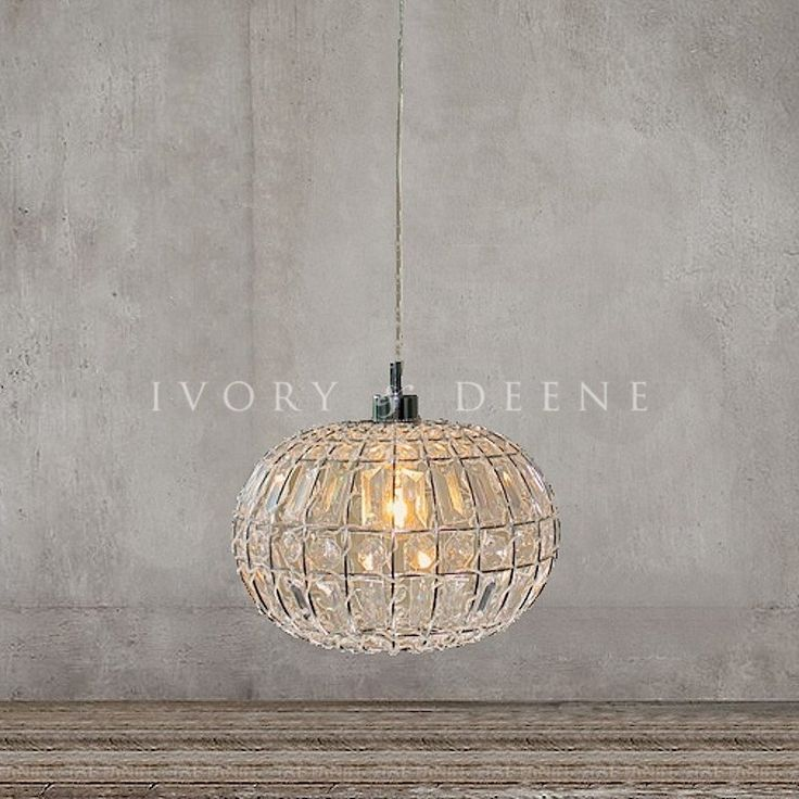 Pendant Light Round Ball - Lily #ball-light #crystal-ball #lily