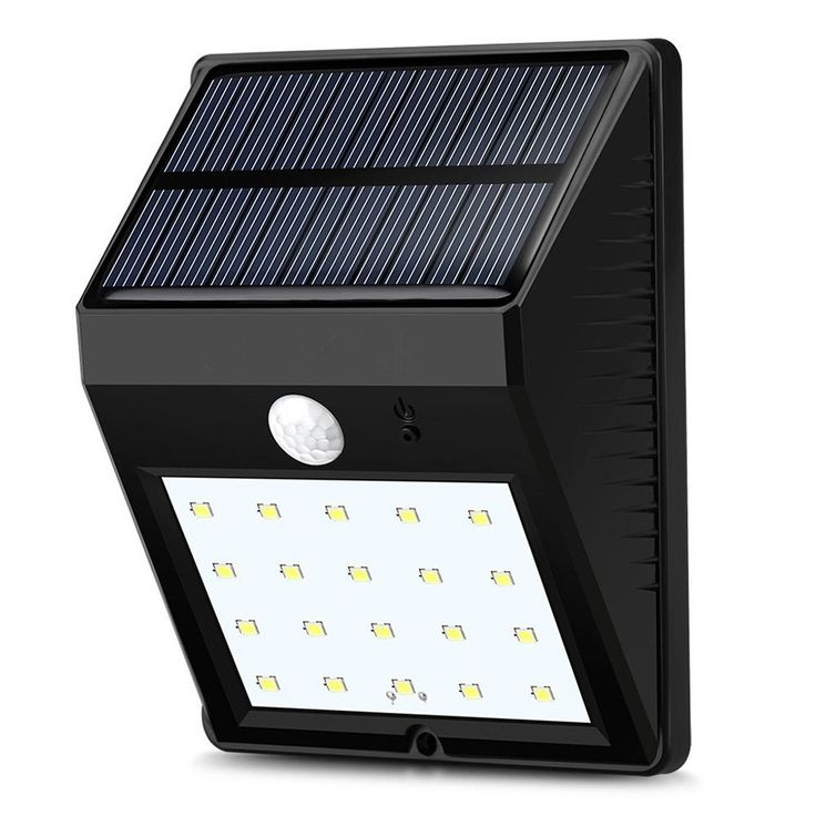 lumiparty 20led solar panel powered motion sensor lamp outdoor light garden security wall light for patio