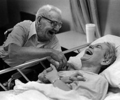 Best Advice -- Grow old with someone who makes you laugh... (original source unknown) #growing #old #happily