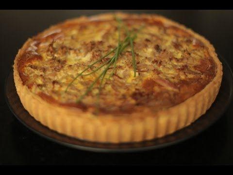 tarte au thon, poivron, oignons et épices