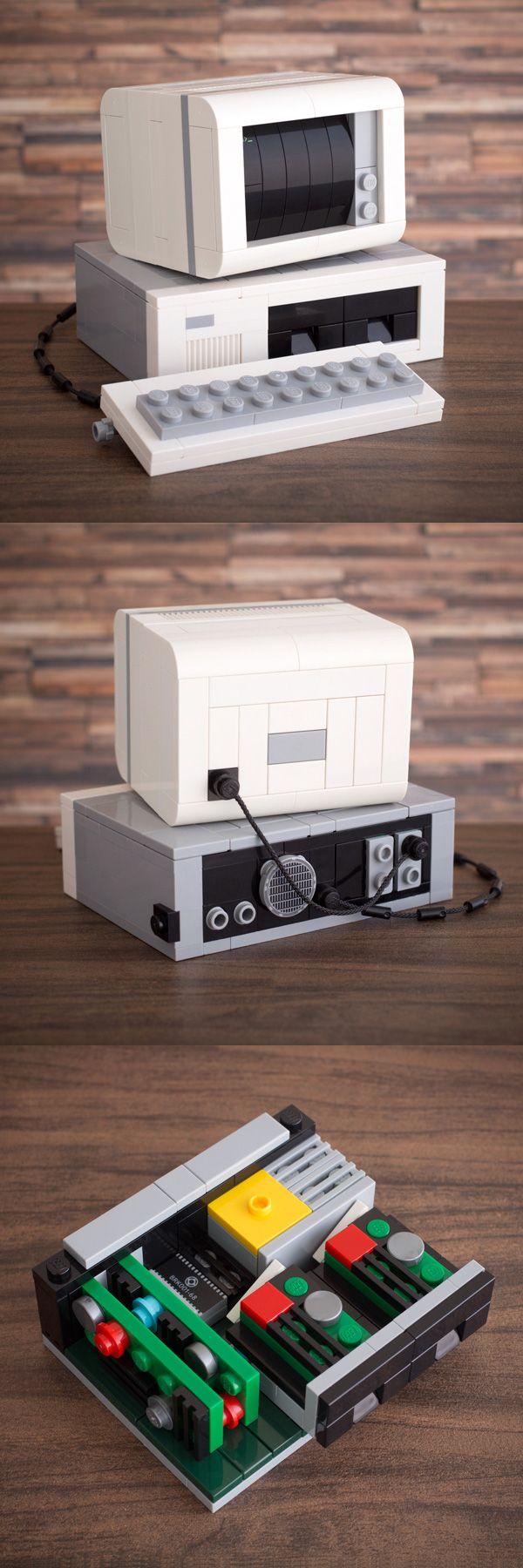 U0027My First Computer: DOS Editionu0027 Custom LEGO Kit By Chris McVeigh