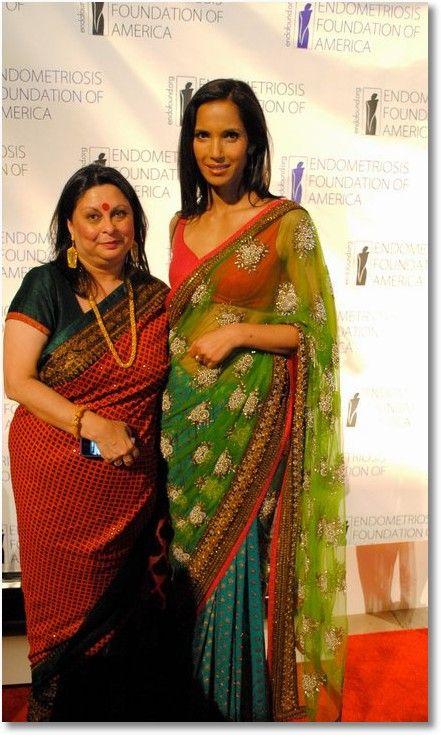 Padma Lakshmi in Sabyasachi saree