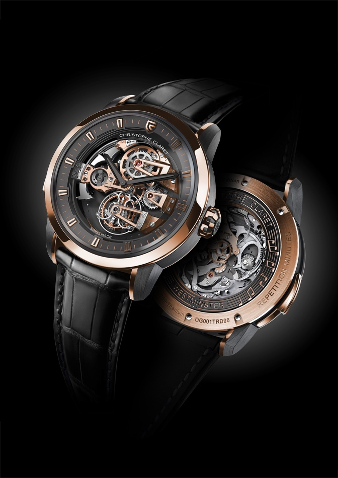 Christophe Claret Soprano Westminster Minute Repeater Tourbillon in gold and black