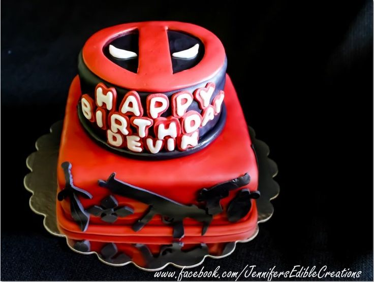 1000 Images About Deadpool Cake On Pinterest