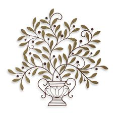Metal Leaves Wall Decor This Modest Wall Decor Perfectly Captures The Essence Of A Vase Filled