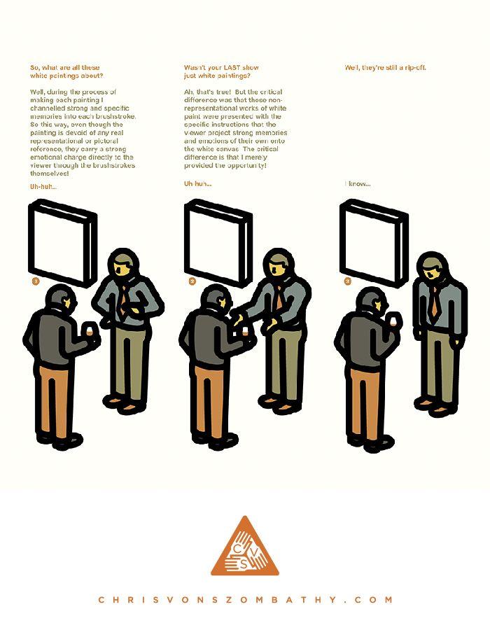 """""""Show"""" an illustration by artist/designer Chris von Szombathy."""