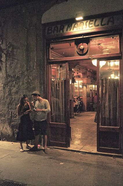 Dali, Picasso, Gaud, Hemingway... and many others famous artists used to come to the Bar Marsella to have a drink. (Barcelona, Spain)