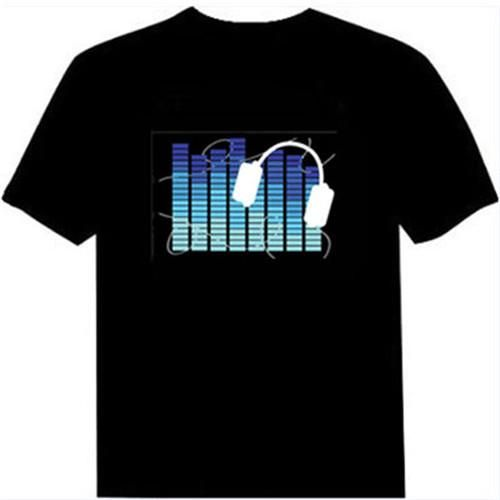 LED Sound Activated Raver T-Shirt