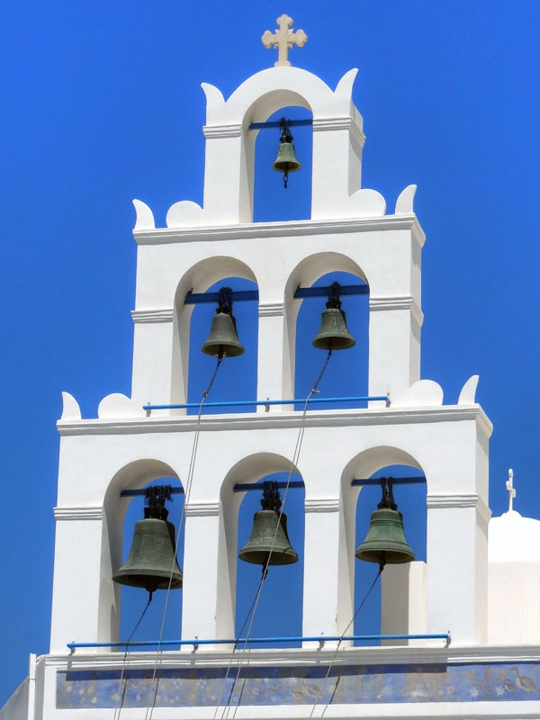 Church bells, Santorini, Greece.