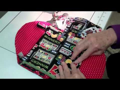 Making a double zipper pouch for NCW using Directional Fabric - YouTube