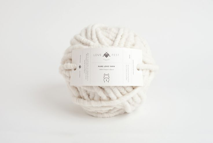 Love Fest Fibers, packaging design