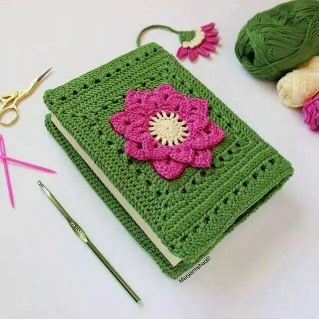 Book Cover Forros Uk ~ Forro para libro a crochet materiales escolares