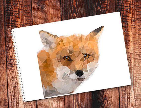 Fox. Polygon. Vector. Print Download. Print от VectorGraphicArts