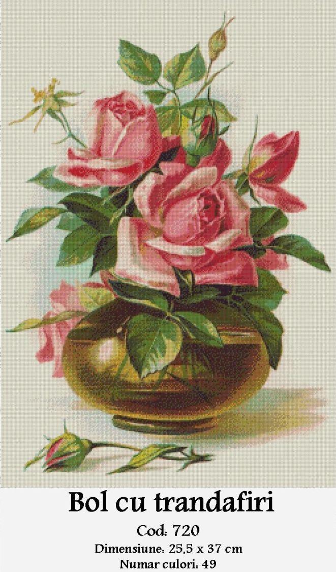 Set Goblen – Bol cu Trandafiri