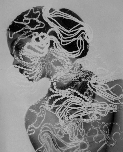 photogram over black & white photo... - ☯ www.pinterest.com/WhoLoves/Black-White ☯ #black #white #art