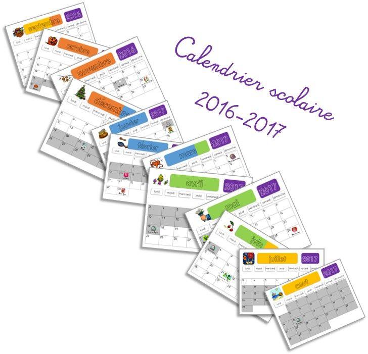 Calendrier scolaire 2016-2017 - Elau
