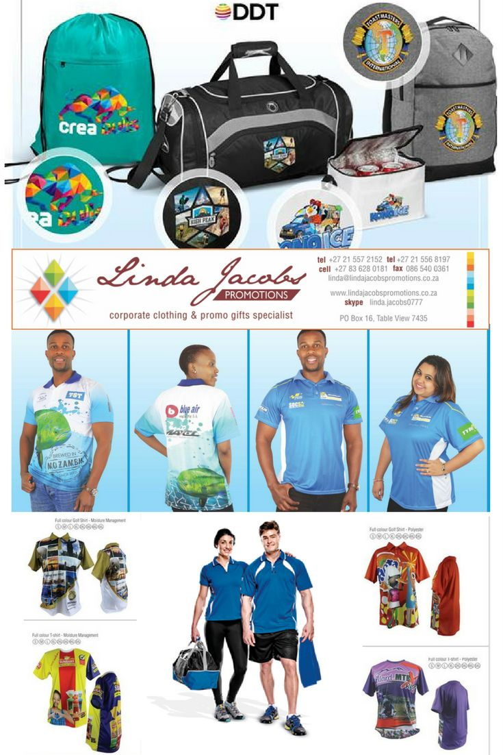 Full colour Branded Golf T-shirts & bags For more info - See more products on our website - http://www.lindajacobspromotions.co.za/ Email: linda@lindajacobspromotions.co.za