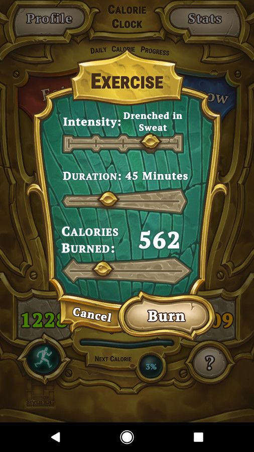 Calorie Clock - UI