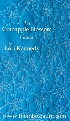 Crabapple Blossom, Free Motion Quilting