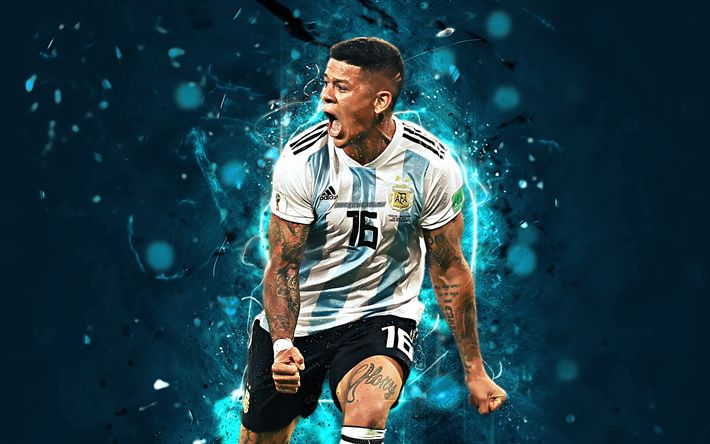Download Wallpapers Marcos Rojo, Abstract Art, Argentina