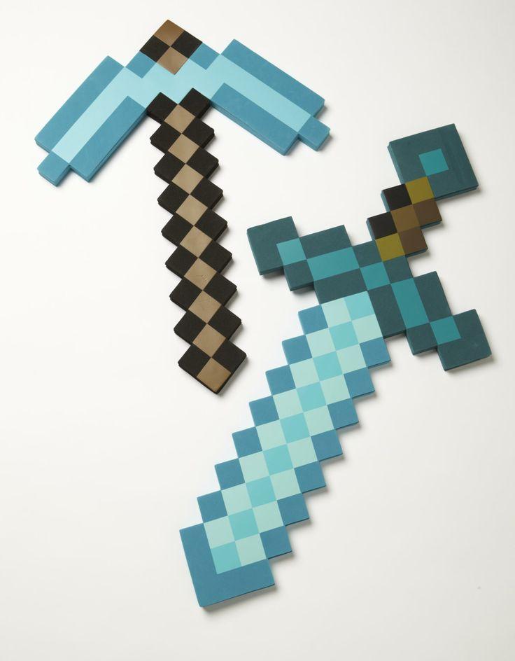 Minecraft Diamond Pickaxe And Sword Crossed Diamond Sword Minecraft