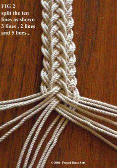 tutorial for making a french sennit braid - Paracord belt or my next mandolin strap