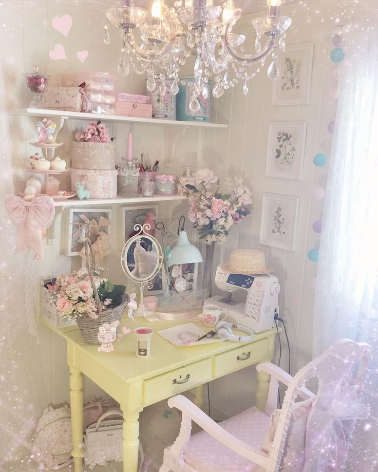 Shabby chic workplace