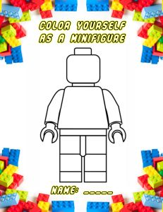 Lego Figure Free Coloring Page Download is here: http://onemamasdailydrama.com/wp-content/uploads/2013/07/Lego_Minifig_Colorpage.pdf