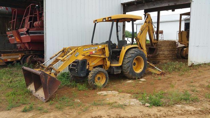 2002 John Deere 110 Backhoe Loader Tractor Diesel Engine 4x4 Hydraulics OROPS