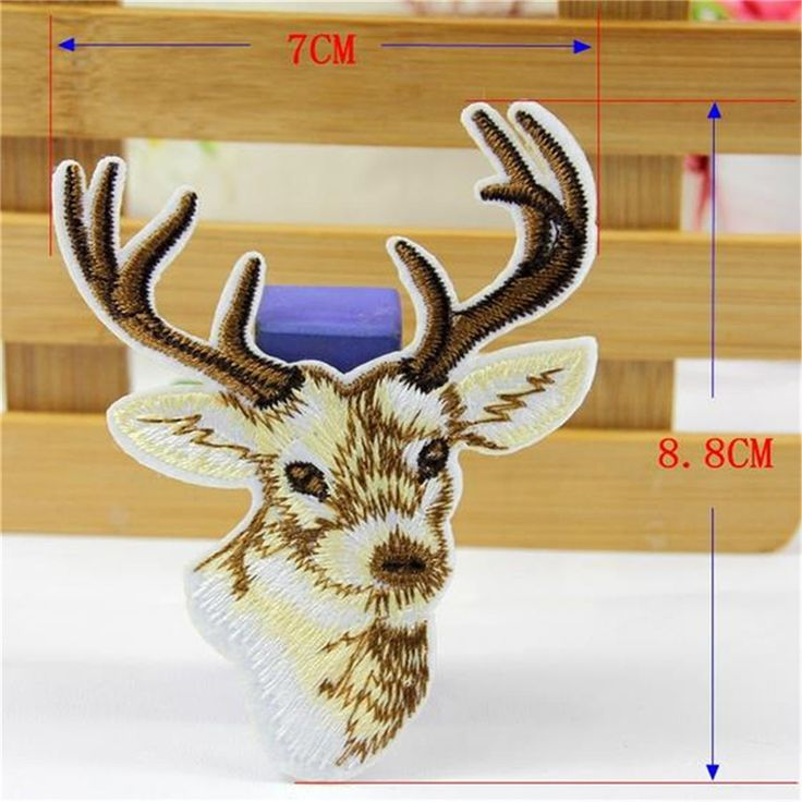 Embroidered iron on patches for clothes Cute animal Elk deal with it clothing DIY Motif Applique Free shipping-in Patches from Home & Garden on Aliexpress.com | Alibaba Group