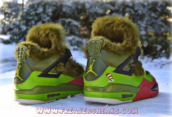Air Jordan IV Grinch Customs by Freaker Sneaks