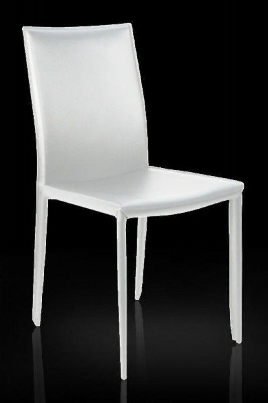 Nett stuhl leder weiß