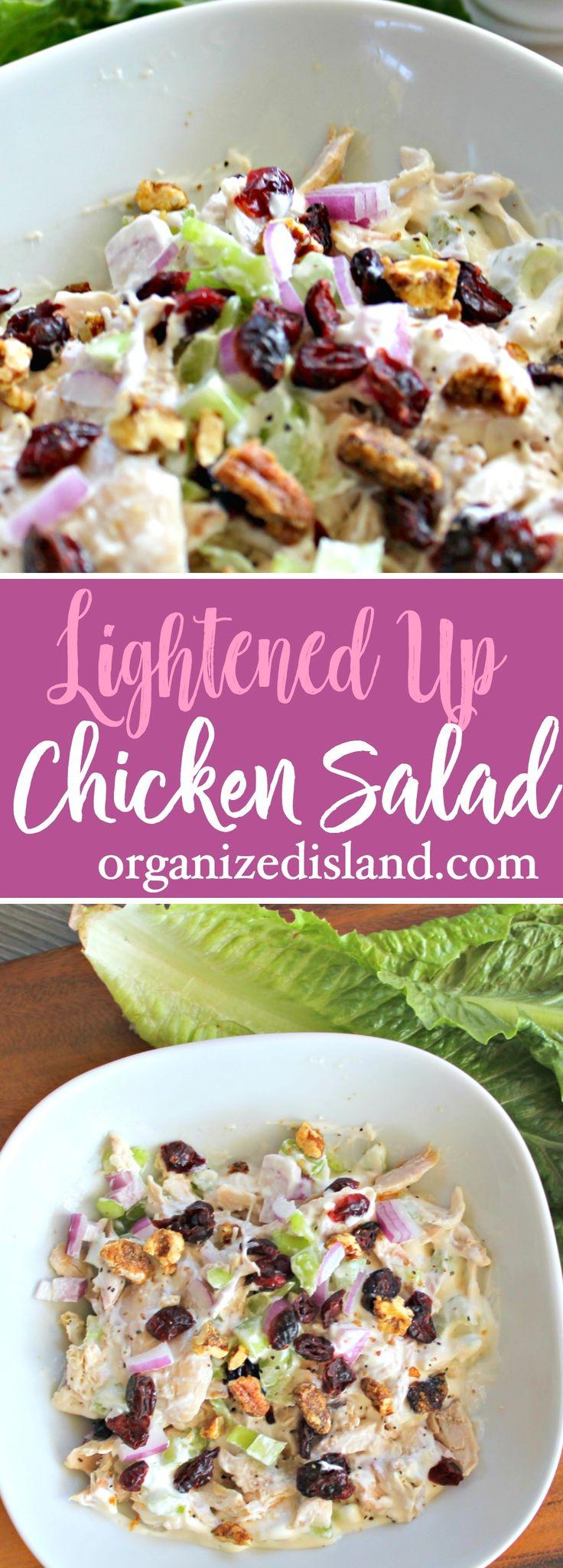 Lightened Up Chicken Salad - a lighter version of a favorite salad.   #light #chcken #salad #recipe via @OCRaquel