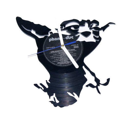 vinyl wall clock Star Wars Yoda wall decor-star by puffpuffdesign