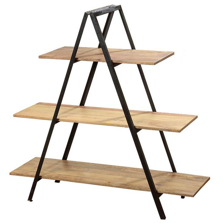Raftul Madrid de inaltime 120 cm vine sa propuna un design inedit care nu scapa din vedere nici functionalitatea, reprezentata de cele trei polite incapatoare. Raftul are la baza o structura metalica triunghiulara pe care sunt asezate trei polite de lungimi diferite.