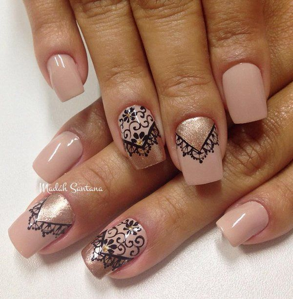 1000+ Ideas About Lace Nail Design On Pinterest