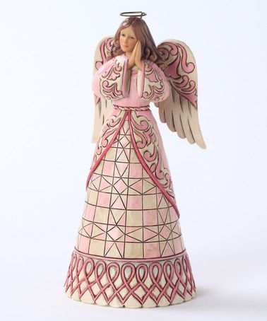 Look at this #zulilyfind! Breast Cancer Angel Figurine by Jim Shore #zulilyfinds