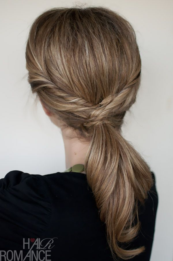 twisted ponytail tutorial [note to self: straighten hair first]