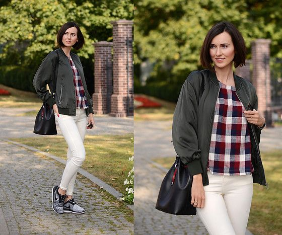 Get this look: http://lb.nu/look/8436357  More looks by Daisyline .: http://lb.nu/user/210725-Daisyline  Items in this look:  Zara Bag, Zara Bomber Jacket, Nike Shoes   #casual #sporty #street #ootd #fashion #style #blogger #look #outfit
